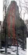 Rock Climbing Photo: 8 - Pendulum (two variations). 5.11d/5.12d. 12 dra...