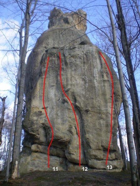 Rock Climbing Photo: 11. Calm holiday. 5.12d. 7 draws. 12. Black Soviet...