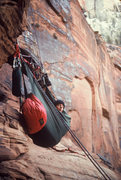 "Rock Climbing Photo: Terry at a bivy, 2 pitches below the top...""r..."