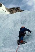 Rock Climbing Photo: Merril beginning the first pitch.