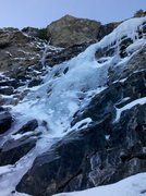 Rock Climbing Photo: 1-15-2012 - Right of Round the Corner from its bas...