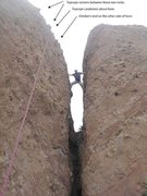 Rock Climbing Photo: Photo illustrates top rope set-up tips. Also good ...