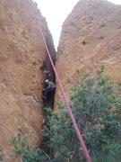 Rock Climbing Photo: Chimney tecnique, rest postition. Spider in Corvus...