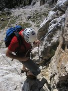Rock Climbing Photo: One of a couple available rappels on the Chamois T...