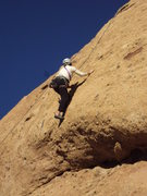 Rock Climbing Photo: Smooth sailing on the slab above the bulge on &quo...