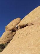 "Rock Climbing Photo: Fighting the bulge on ""Yellow Rose of Texas,&..."