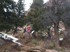 Rock Climbing Photo: Volunteers hard at work.