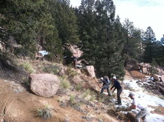 Rock Climbing Photo: Lots of digging in soil conditions that were often...