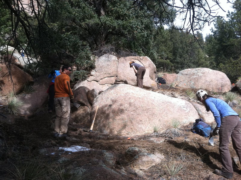 More trail work.