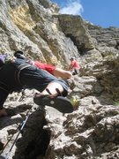 Rock Climbing Photo: Fourth pitch of Via Rossi Tomasi