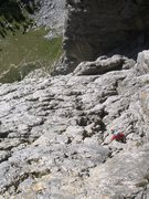 Rock Climbing Photo: Coming up pitch 5 of Via Rossi - Tomasi