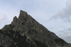 Rock Climbing Photo: The Hexenstein from Falzarego Pass.