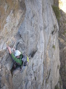 "Rock Climbing Photo: The ""wild"" pitch 3 traverse.  This was p..."