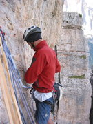 Rock Climbing Photo: Your lead, buddy!  Keep it tight on the old man.  ...