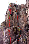 "Rock Climbing Photo: 1 - ""Unknown bolt line"" (Over The Top), ..."