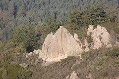 Rock Climbing Photo: Climbers on 3 routes. Gives a good sense of scale....