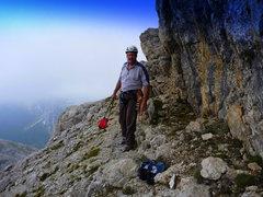 Rock Climbing Photo: I think it is raining.  Lets climb anyway.
