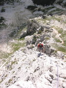 Rock Climbing Photo: Looking down the exposed ridge line from near the ...