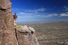 Rock Climbing Photo: Scott looking at mount lemmon