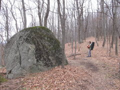 Rock Climbing Photo: Sam's Boulder: At the top of the hill, warmups on ...