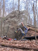 "Rock Climbing Photo: Aaron James Parlier working the FA of ""Sevent..."