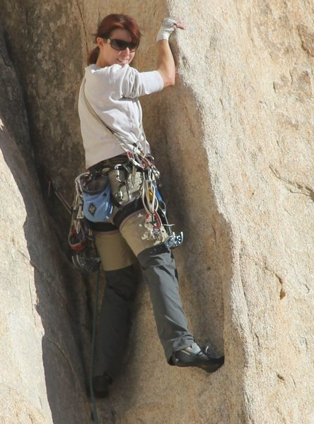Rock Climbing Photo: anonymous climber on Dogleg, 1/7/12