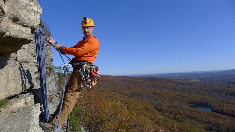 Rock Climbing Photo: 1st Pitch of Madame G's, The Gunks, New York, 2011