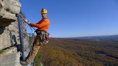 Rock Climbing Photo: 1st Pitch of Madame G's, The Gunks, New York, 2011