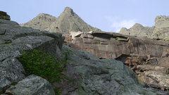 Rock Climbing Photo: Mount Katahdin. Looking at the Armadillo flake fro...