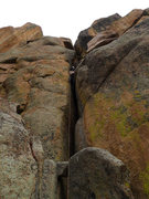 Rock Climbing Photo: Great chimney start (only good pro is at the level...