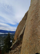 Rock Climbing Photo: Rock is coarse grained but not decomposing. Lots o...