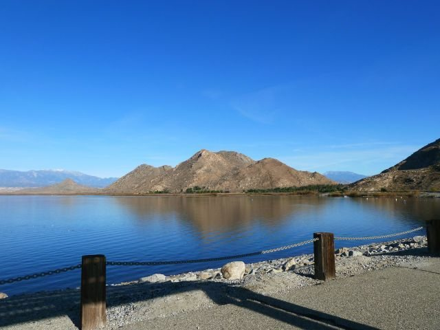 Rock Climbing Photo: The view from the dam, Lake Perris SRA