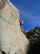 Rock Climbing Photo: Praise the Rays (5.8), Lake Perris SRA