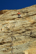 Rock Climbing Photo: Nearing the first anchor on Super Hero- pitch 1 (5...