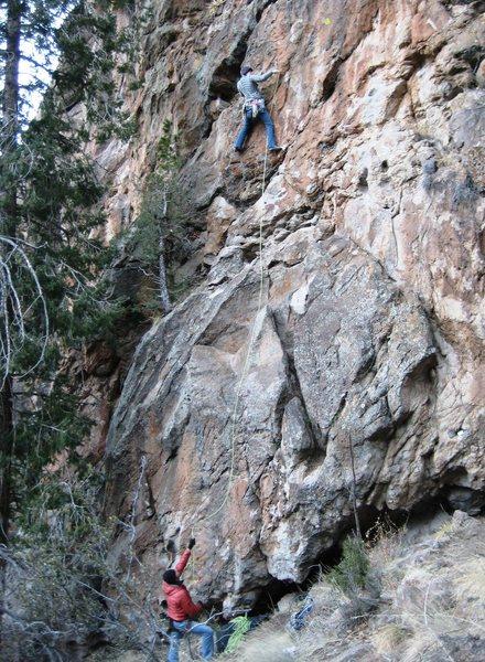 Rock Climbing Photo: a brisk start