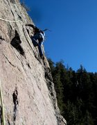 Rock Climbing Photo: Ellie spacewalking the second pitch