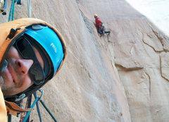 Rock Climbing Photo: Above the 1st crux.