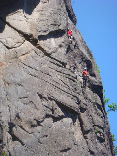 Unknown climbers on Sunburst Arete