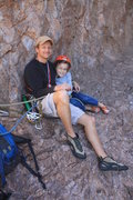Rock Climbing Photo: Scott and his daughter Riley