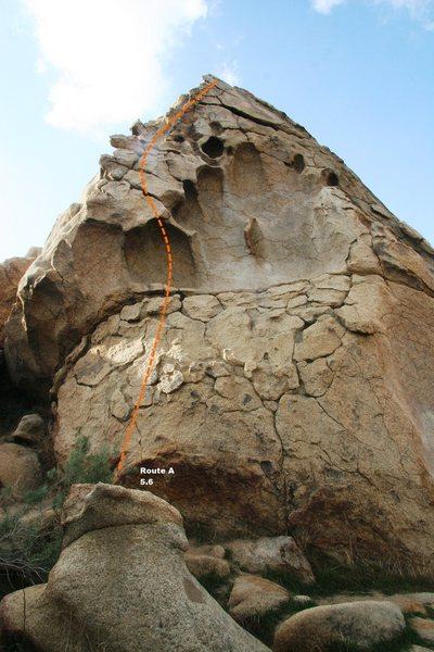 Rock Climbing Photo: Route A Topo