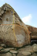 Rock Climbing Photo: Tiny Crack Topo