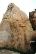 Rock Climbing Photo: Linear Fracture Topo