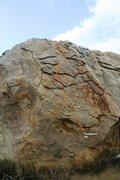 Rock Climbing Photo: Problem B Topo