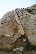 Rock Climbing Photo: Problem A and B Topos