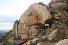 Rock Climbing Photo: Street Boulder Topo