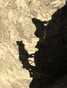 Rock Climbing Photo: scott and rileys shadows trying to catch up to the...