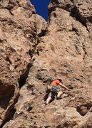 Rock Climbing Photo: aaron on p5