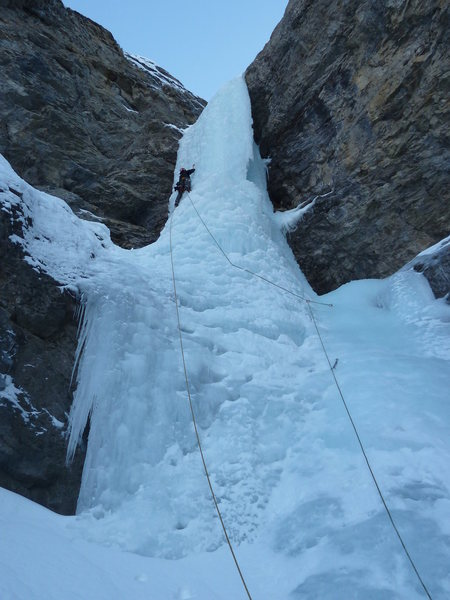 Rock Climbing Photo: Last pitch of The Professor Falls, December 22, 20...