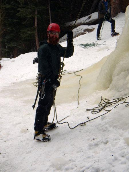 Rock Climbing Photo: Hidden Falls - MLK Day.  RMNP 1/16/2012.  With Gar...