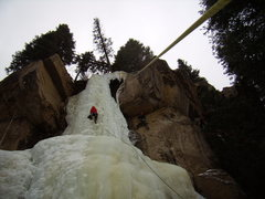 Rock Climbing Photo: Hidden Falls - MLK Day.  RMNP 1/16/2012.  With Gar...